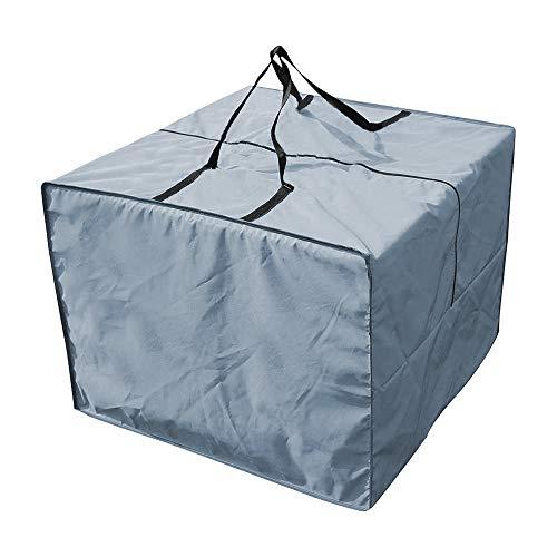 Harupink - Cubiertas para muebles de jardín, cuadrado, resistentes, impermeables, resistentes al viento, a prueba de nieve, a prueba de polvo, antirayos UV, 81 x 81 x 61 cm, color gris