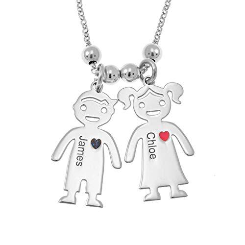 Zhubai Valentine's Day Pendant Necklace Her Weirdo His Crazy Boyfriend Girlfriend Jewelry Set Adjustable Flowering Couple Anniversary Novel DIY Necklace