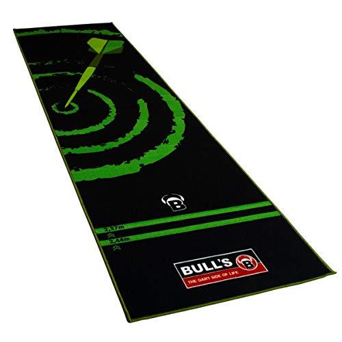 Carpet Mat 140 Green, Dartteppich mit rutschfester Unterseite aus Gummi, umweltfreundliche Turnier Dartmatte mit offiziellem Abstand zum Dartboard 237cm x 80cm, optimaler Schutz für Darts und Tips
