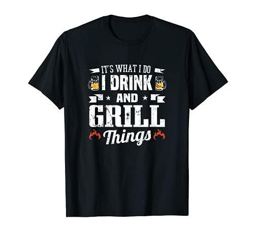 Es lo que hago yo bebo y parrilla cosas divertido ventilador de barbacoa Camiseta