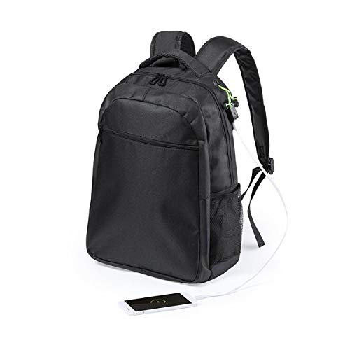 BigBuy Office Unisex_Adult S1411334 Daypack, Black, One Size