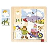 Goula- Winter Puzzle Encajes Madera Invierno, Multicolor (Diset 53088)