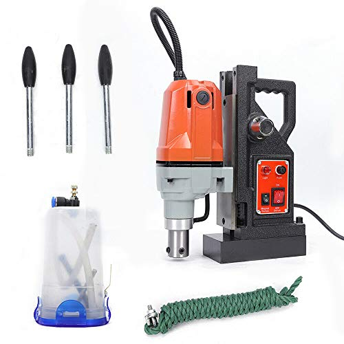 Magnetic Electric Precision Drilling Portable, 2700 Lbs 1100W with 1-1/2 Inch (40mm) Boring Diameter MD40 Magnetic Drill Press Precision Metal Surface Drilling System Portable