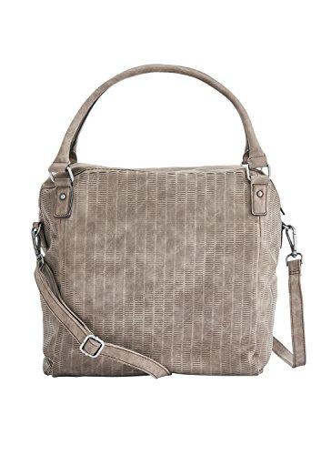 s.Oliver (Bags Damen Shopper Henkeltasche, Braun (Almond), 13x33x44 cm