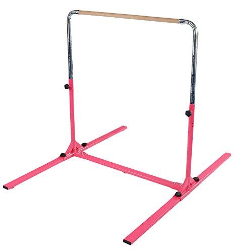 Tumbl Trak Jr. Bar PRO Adjustable Height Horizontal Gymnastics Kip Bar for the Gym for Home, Pink (jbp-1pink)