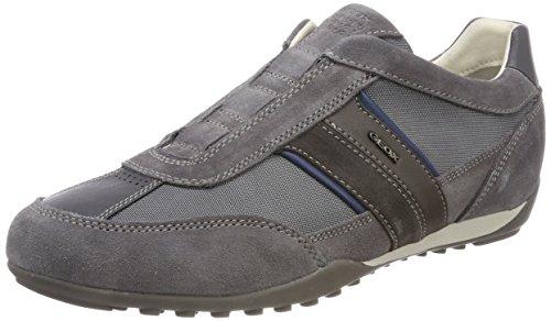 Geox Herren U Wells A Sneaker, Grau (Dk Grey), 44 EU