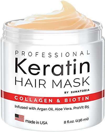 2021 Professional Keratin Hair Mask - Made in USA - Nourishment Treatment for Hair Repair & Beauty -...