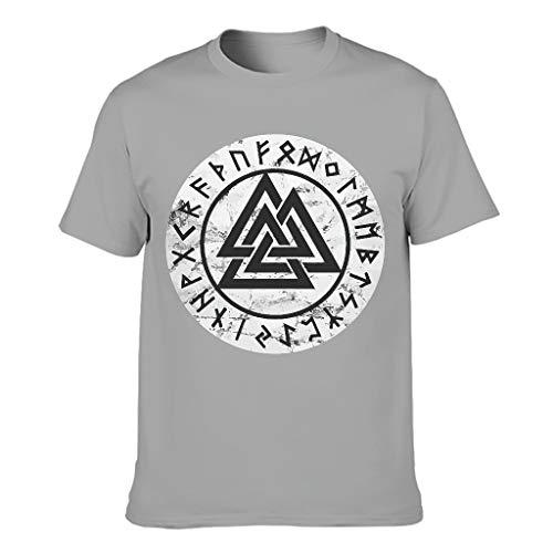 Wikinger Design Herren Baumwoll T-Shirt stilvoll Modern Geschnitten T-Shirt gray3 4XL