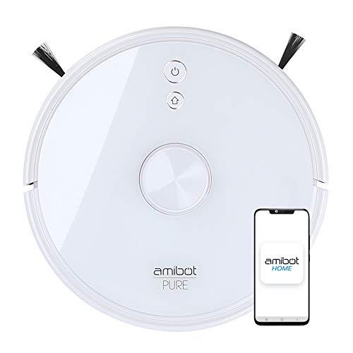 AMIBOT Pure Laser H2O - Robot Aspirador y friegasuelos Conec