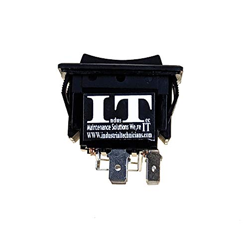 IndusTec 30 AMP 12V DC - Momentary Motor Polarity Control Reversing Rocker...