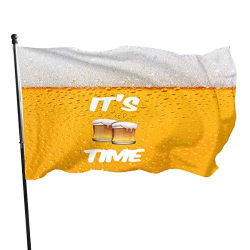 Jacklee zijn bier tijd tuin vlaggen duurzaam fade resistente decoratieve vlaggen premium kwaliteit officiële vlag met grommets polyester luxe outdoor Banner 2020 voor alle seizoenen en vakanties - 3X 5 Ft