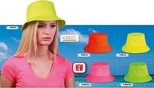 Cappelli STOK 10 PZ Cappellino Miramare Pescatora Pescatore Unisex Fluo