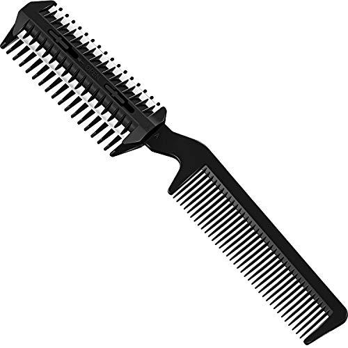 Kamm Haarschneider Doppelseitiges Haar Verdünnung Kamm Haarschneider Kamm Doppelkante Haarentfernung Kamm Schneiden Schere für Dünnes oder Dickes Haar Schneiden, Styling, Friseur