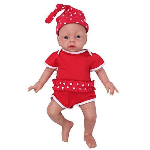 IVITA Reborn Poupée Réaliste Bébé Poupée Vivante Bébé Poupée à la Main Réaliste Yeux Bleus Doux Vif Bébé Poupée Silicone Corps Complet Fille Toddler (WG1506-51cm-3269g-Mädchen)