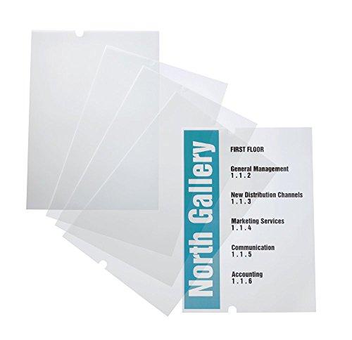 Durable 483719 Crystal Sign EDV-beschriftbare Folie refill (297 x 420 mm, für Durable Bodenständer 4819) Beutel à 10 Bögen transparent