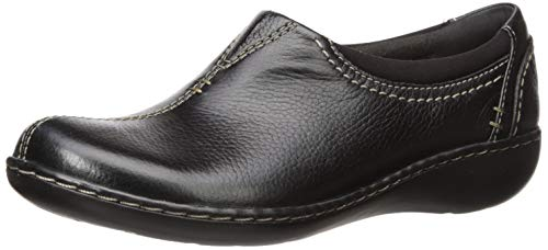 Clarks Womens Ashland Joy Loafer, Black Leather, 80 N US