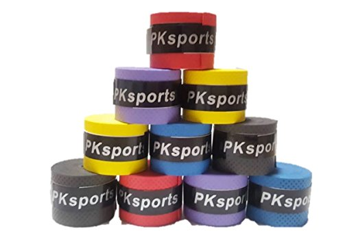 〔mikan〕 グリップテープ 5色30個セット (黒、赤、青、黄、紫) テニス バドミントン ゴルフ スカッシュ 釣り竿 吸汗 滑り止め