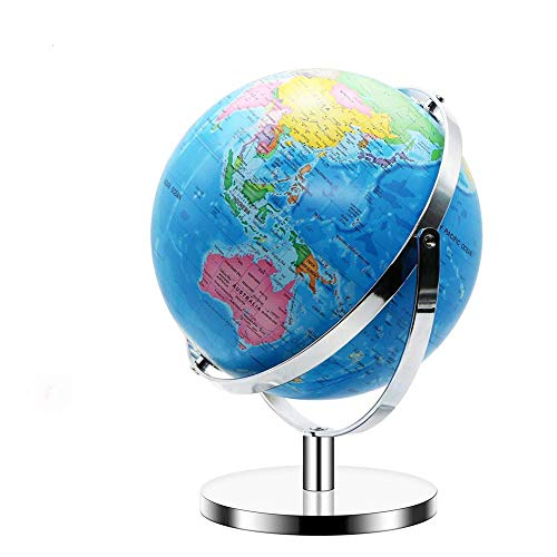 World Globe for Kids Full Rotation - Large Size 12 Inch - World Globe with Stand Geographic Adult Discovery World Learning Toys Globe for Kids (12 Inches)