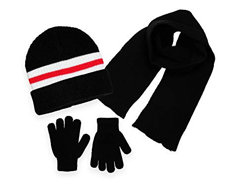 Polar Wear Boys Knit Hat, Scarf and Gloves Set - Royal