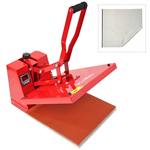 PixMax - Pressa a Caldo 38cm x 38cm per Sublimazione su Magliette con Foglio in Teflon