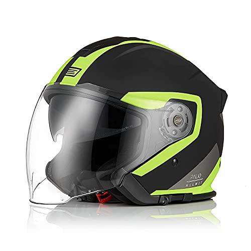 Origine Casco jet de cara abierta 3 4 para motocicleta con visera para adultos apto para scooter de crucero Street M