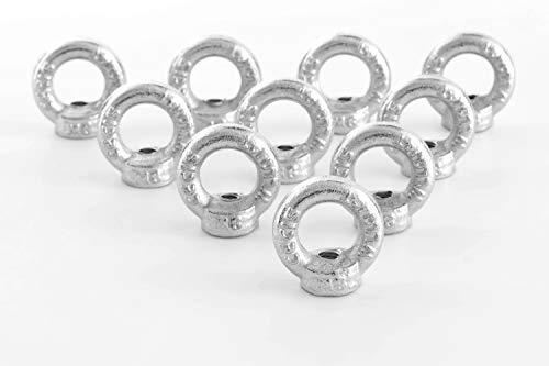 Ringmutter/Ösenmutter M8 DIN 582 Stahl verzinkt Ringmuttern 10 Stück