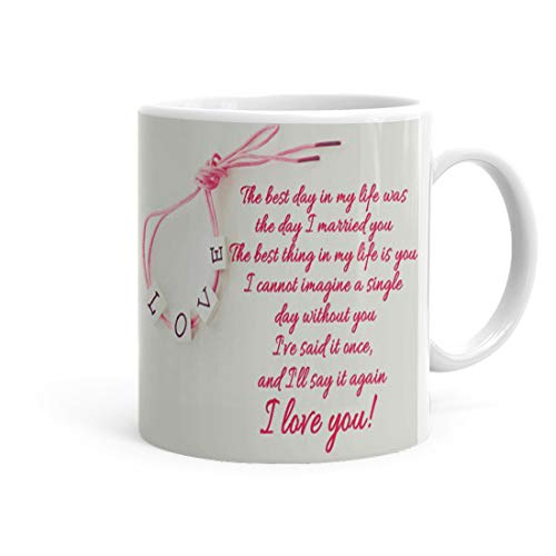 Kesri Gifts I Love You Meassage Quote Theme Printed Coffee Mug(325 ml) (ks-P20love-002) - Anniversery,Valentine Gift for Husband Wife Girlfriend Boyfriend