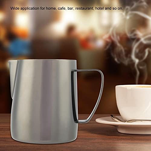 Taza de acero inoxidable jarra espumoso jarra de leche espum