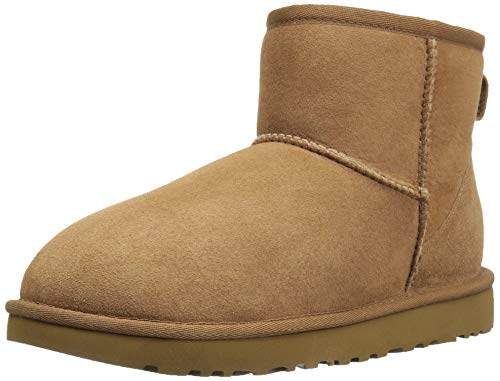 UGG Women's Classic Mini II Winter Boot, Chestnut, 7 B US