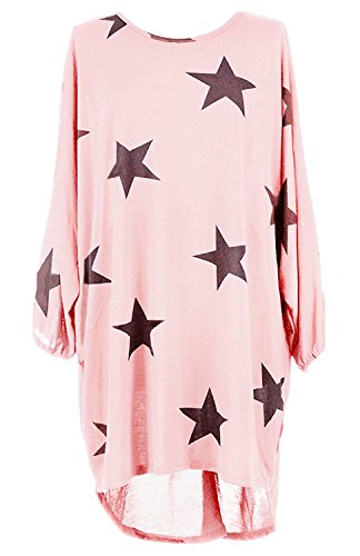 Suimiki Damen Oversize Pullover lang Sweatshirt locker Oberteile Asymmetrisch-PIXL