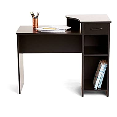 Adjustable storage shelf Mainstays Student Desk in Black