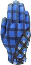 イチーナ スマートフォン(スマホ)対応 タッチパネル対応手袋 ピタクロタッチプリントチェックブロック ブルー (フリーサイズ)