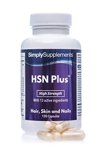 HSN Plus Pelo, Piel y Uñas - Con colágeno y biotina - ¡Bote para 2...