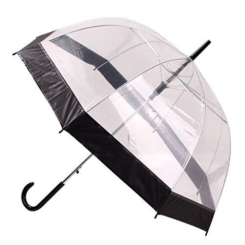 Paraguas transparente grande para mujer, transparente, cortavientos, resistente a las tormentas, plegable, ventilado, extra estable, de bolsillo