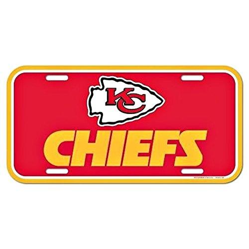 NFL Kansas City Chiefs License Plate, Team Color, One Size