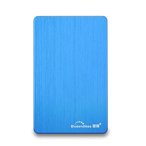 Blueendless Externe Festplatte (USB 3.0, 6,35 cm (2,5 Zoll) für PC, Laptop, Computer blau blau 500 GB