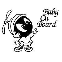 車のステッカーの装飾 15.2センチメートル* 11.4センチメートルカースタイリングザ・火星の赤ちゃんにボードマーヴィン・ファッションカーステッカーアクセサリー (Color Name : Black)