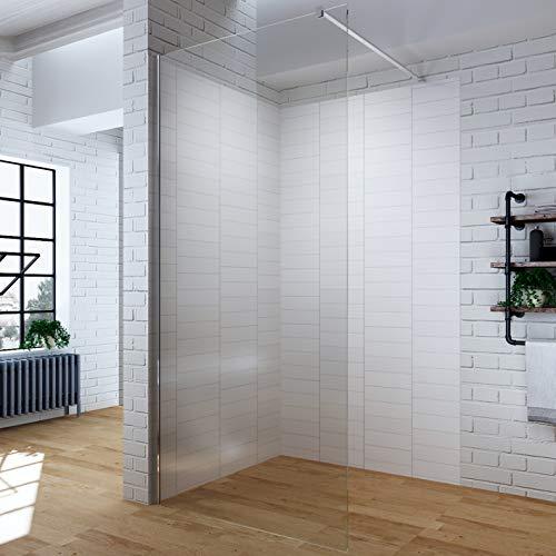 AQUABATOS® 80x200 cm Walk In Dusche 10mm Duschwand Glas Walkin Duschabtrennung Duschtrennwand Glastrennwand Glaswand mit NANO-Beschichtung, Höhe 200cm