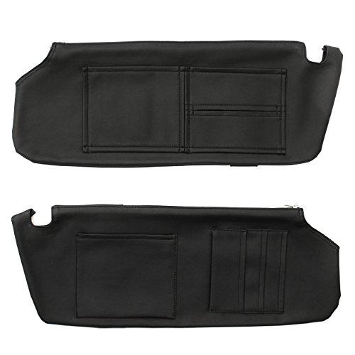 【車種選択可能】 NV350 キャラバン E26 サンバイザー カバー 日焼け防止 収納ポケット付き カード ディッシュ 収納 ホルダー 日よけ 車内 内装 ドレスアップ カスタム パーツ PVCレザー ブラック 2個セット
