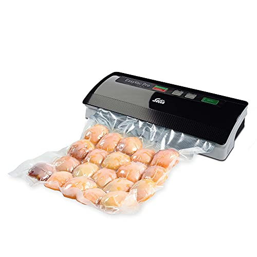 Solis Vac Pro 569 Vakuumiergerät - Folienschweißgerät für Lebensmittel - Für trockene, Feuchte und Empfindliche Lebensmittel - Schwarz/Grau