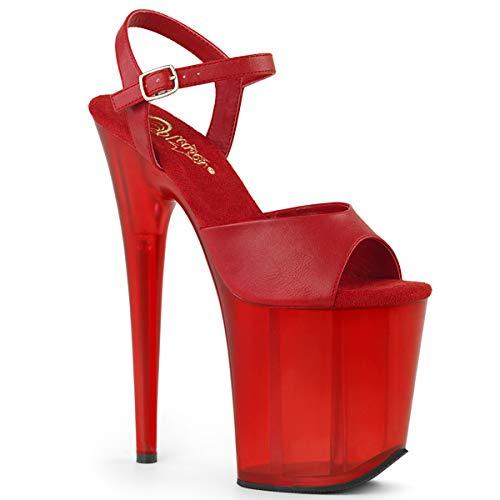 Pleaser Sandaletten FLAMINGO-809T - Extreme High Heels 41 (US 11) Rot