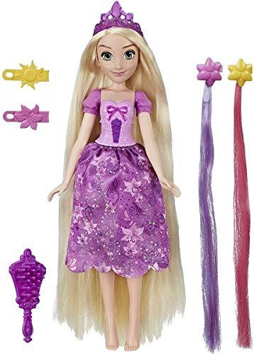 Disney Princess Hair Style Creations Rapunzel - Muñeca de Moda, Juguete de Peinado con Cepillo, Clips para el Pelo, Extensiones de Cabello y Moda extraíble