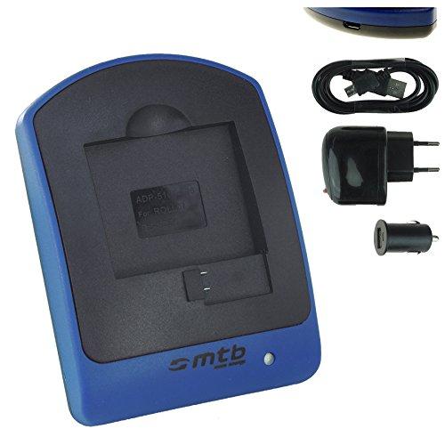 Ladegerät (Netz+Kfz+USB) für AEE Magicam S51, S70, S71 (WiFi), S80, S90 / Veho MUVI K2 / Nilox F-60 Evo, Evo 4K