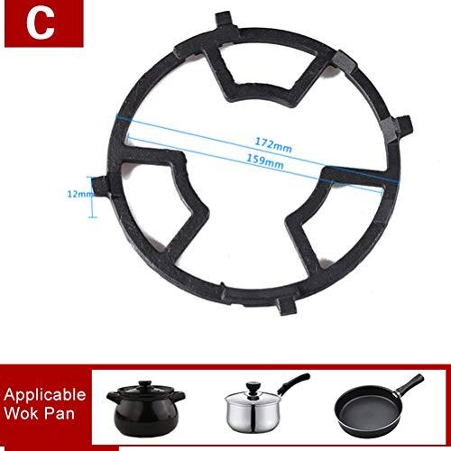RUIYELE Soporte de hierro fundido para estufa de Wok, soporte para estufa de trabajo, antideslizante, color negro