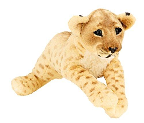 Löwe Baby liegend Plüschtier ca. 60 cm Kuscheltier Softtier Raubkatze Stofftier