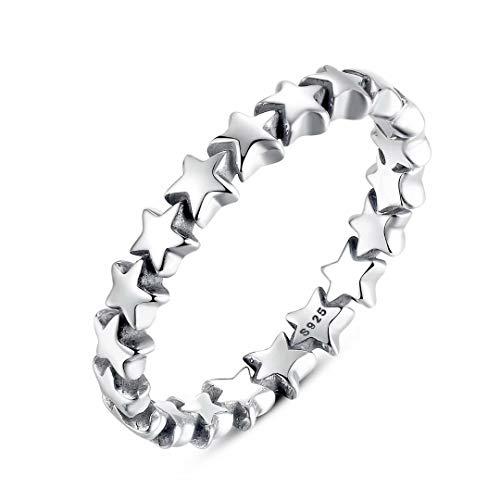 Presentski Sterling Silver Mom Star Fashion Ring for Women