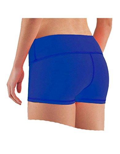 Epic MMA Gear Compression Yoga Shorts for Women (XL, Royal Blue)