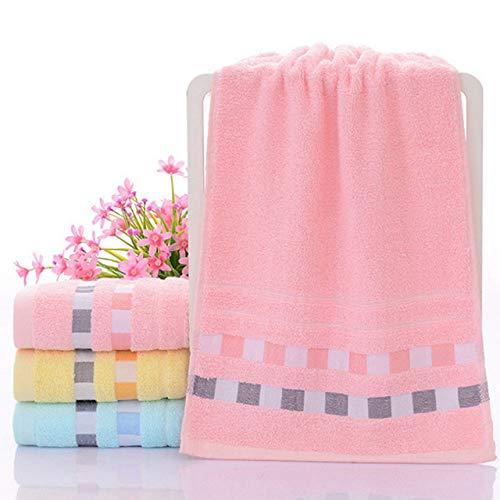 dfsgrfvf badhanddoek, 2 stuks, 73 x 33 cm, vierkant, eenkleurig, zacht gezicht, katoen, handdoek, badhanddoek, heren, dames, sjaal
