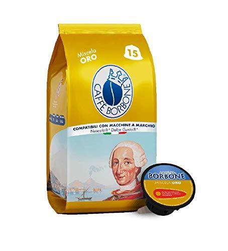 Caffè Borbone Miscela Oro - 90 capsule (6 confezioni da 15) - Compatibili con le Macchine Nescafè®* Dolce Gusto®*