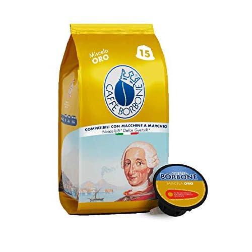 Caffè Borbone Miscela Oro - 90 capsule (6 confezioni da 15 capsule) - Compatibili Nescafè, Dolce Gusto